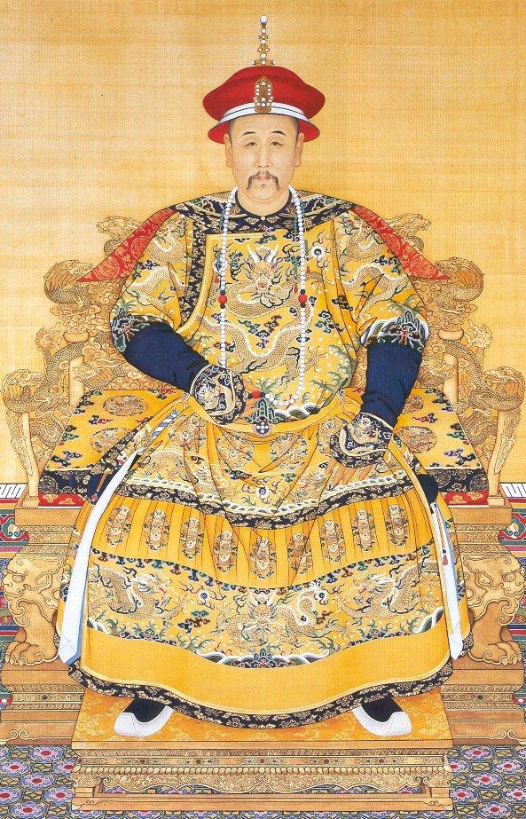 雍正皇帝朝服全身像。