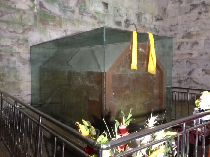慈禧太后的棺椁。