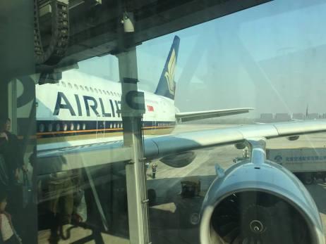 班机安全抵达帝都北京,天空还有些蔚蓝!=D