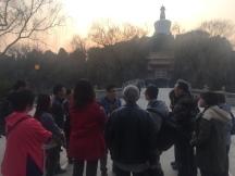 清史网北京考察团在北海公园